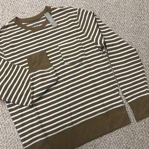 NWT J.Crew Striped Crewneck Sweater Shirt